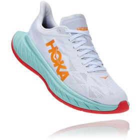 Hoka One One Carbon X 2 Shoes Women white/blazing orange